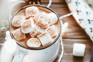 Hot cocoa with marshmallow