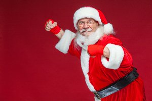 Christmas. Santa Claus with red
