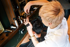 Blonde Barber