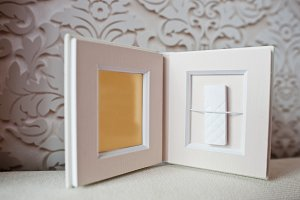 Luxury white classic leather wedding