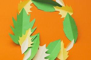 Creative autumn frame