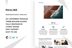 Pauline – Email template + Builder