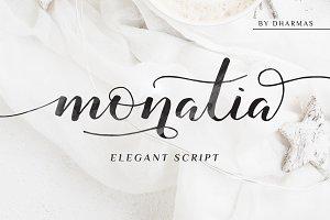 Monatia - Elegant Script (50% OFF)