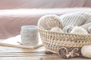 cozy warm still life