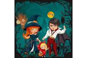 All Hallows Eve family party poster