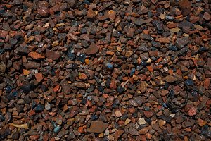 natural background of wet pebbles on