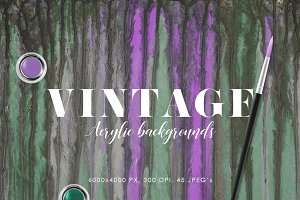 Vintage Abstract Paint Backgrounds