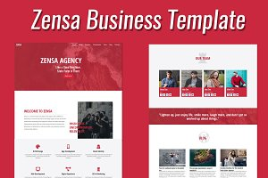 Zensa- MultiPurpose Onepage Template