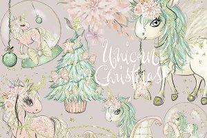 Unicorn Clipart, Christmas Clipart