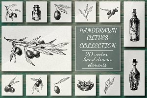 Olive Hand Drawn Collection