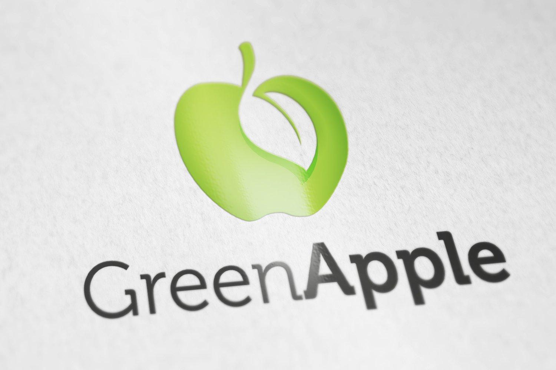 Green apple logo logo templates creative market toneelgroepblik Choice Image