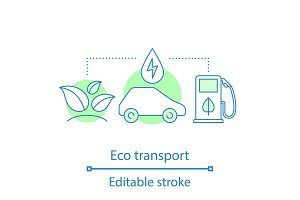 Eco transport concept icon