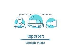 Reporters concept icon