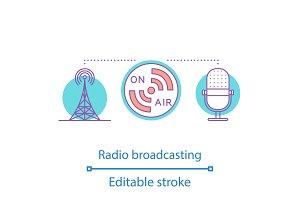 Radio broadcasting concept icon