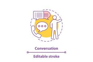 Conversation concept icon