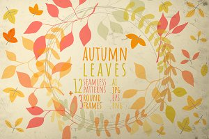 12 autumn patterns + 3 round frames