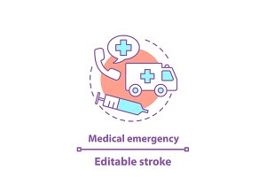 Medical emergency concept icon
