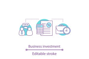 Business investment concept icon