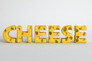 3d render illustration of the word