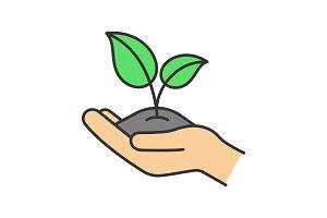 Greening color icon