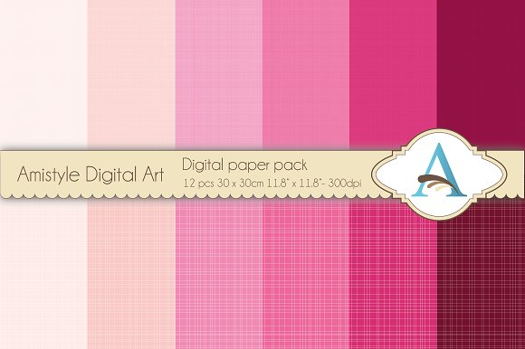Linen - Pink - Digital Papers