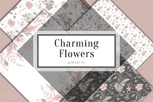 Floral vector patterns, wedding