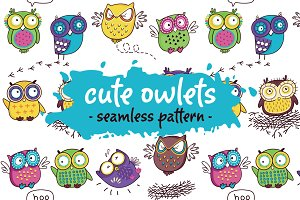 Cute owlets pattern