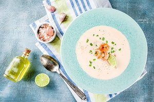 Shrimp creamy soup