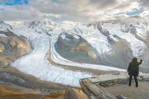 Viewpoint in Gornergrat, Switzerland