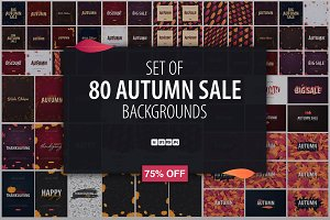 80 Autumn Backgrounds 75% OFF