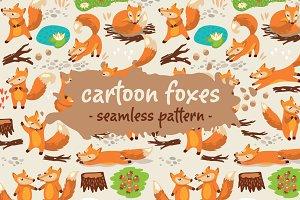 Cartoon foxes pattern