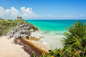 Paradise beach in Tulum, Mexico