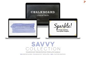 Savvy Collection PPT Template Bundle