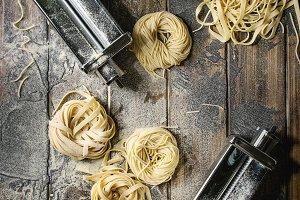 Homemade uncooked pasta