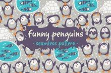 Funny penguins pattern