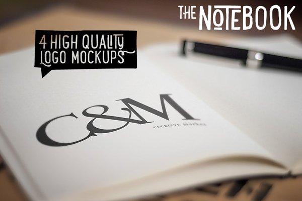 The Notebook - Creative Logo Mockup…