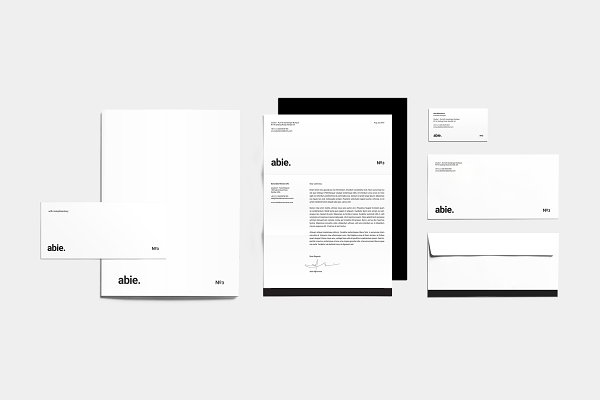 Stationery Templates - Abie Corporate Identity