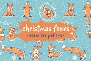 Christmas foxes