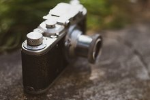 Vintage camera with chrome details by  in Technology