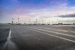 View of the runways of Kastrup
