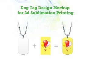 Dog Tag V1 Mock-up for Sublimation