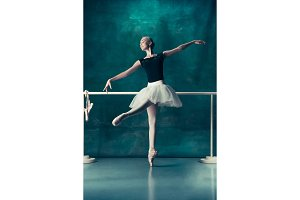 The classic ballerina posing at