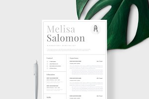 """Resume Template 1 page   """"Stockholm"""""""