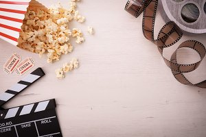 Movies objects background top