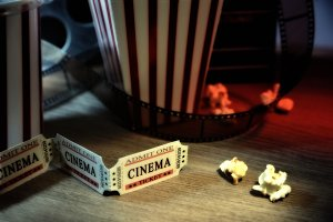 Vintage elements of cinema detail