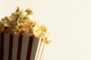 Popcorn in cardboard box vintage