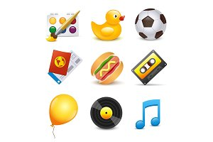 Set of vector beautiful icons