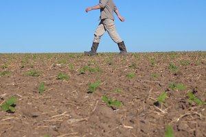 Unrecognizable young male farmer
