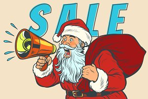 Christmas sale Santa Claus with