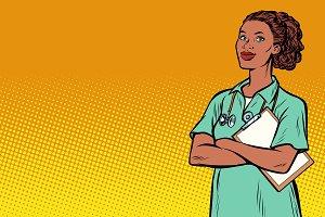 African nurse. Medicine and health